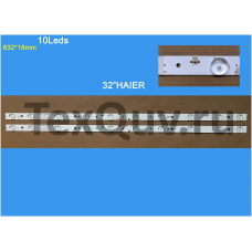 "32"" HAIER 10Leds 632*18mm, LED подсветка для телевизора (комплект-2шт)"