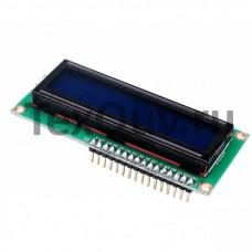 LCD1602 Символьный дисплей 16x2 Синий с выводами