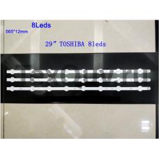 """29"""" TOSHIBA 8LEDS 565*12мм, LED подсветка для телевизора"""