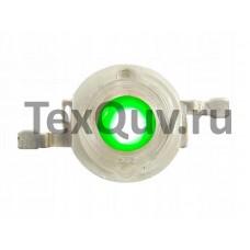 Светодиод без платы 1W 3,4V 70-90LM 520-525nm G (Зеленый)