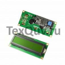 LCD1602 Символьный дисплей 16х2 Зелёный с I2C/IIC конвертером
