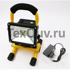 Прожектор COB 30W светодиодный на подставке аккумуляторный