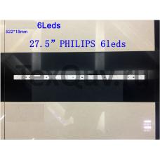 """27,5"""" PHILIPS 522*18mm 6Leds, LED подсветка для телевизора"""
