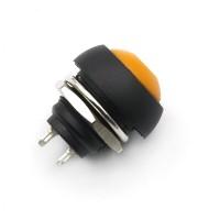 Кнопка PBS-33B 2PIN 1A-250V 12мм OFF-(ON) оранжевая без фиксации