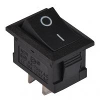 Переключатель клавишный черный KCD1-101 2PIN ON-OFF