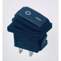 Переключатель клавишный черный KCD1 2PIN 6A-250V 13x19мм (ON-OFF) влагозащита