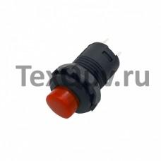 Кнопка DS-428 2PIN c красным колпачком с фиксацией