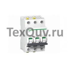 Автоматические выключатели Schneider Electric 3-полюсной C20А iC60N 6кА