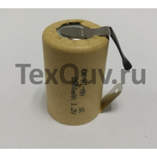 Ni-MH перезаряжаемый аккумулятор с выводами SC 1,2В 2500 мАч