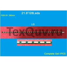 """21,6"""" LG 280mm 28Leds, LED подсветка для телевизора (комплект-1шт)"""