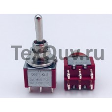 Тумблер MTS-223 2A-250V 6PIN (ON-OFF-ON)