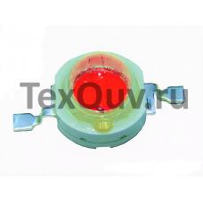 Светодиод без платы 1W 2.2V 50-70LM 620-625nm R (Красный)