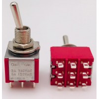 Тумблер STM-302 2A-250V 9PIN (ON-ON)