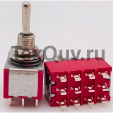 Тумблер STM-403 2A-250V 12PIN (ON-OFF-ON)