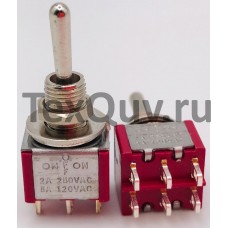 Тумблер MTS-203 2A-250V 6PIN (ON-(OFF)-ON)