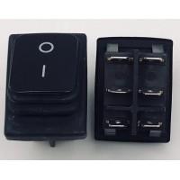 Переключатель клавишный черный KCD2 6PIN 20A-125V 21,5х27мм (ON-OFF) влагозащита