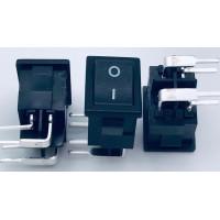 Переключатель клавишный черный с изогнутыми ножками 6А-250V 4PIN (ON-OFF) 13х19мм