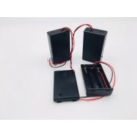 Батарейный отсек для LR03  3xAAA закрытый с выключателем и проводами