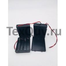 Батарейный отсек для ААА  SBH-441  4xAAA закрытый с выключателем и проводами