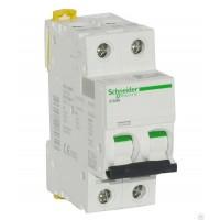 Автоматические выключатели Schneider Electric 2-полюсной C63А iC60N 6кА