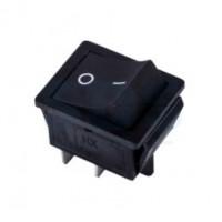 Переключатель клавишный черный KCD4 4PIN 16A-125V 21,5х27мм (ON-OFF)