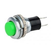 Кнопка DS-316 2PIN 0,5A-125V 7,8мм OFF-(ON) зеленая без фиксации