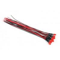 Светодиод красный-5мм с проводом