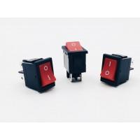Переключатель клавишный красный 6А-250V 4PIN (ON-OFF) 13х19мм