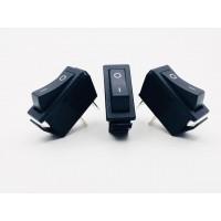 Переключатель клавишный длинный черный 16А-250V 2PIN (ON-OFF) 30х11мм