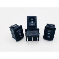 Переключатель клавишный черный 6А-250V 3PIN (ON-OFF-ON) 20x13мм