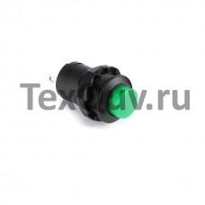 Кнопка DS-427 2PIN c зеленым колпачком без фиксации
