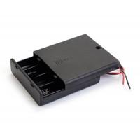 Батарейный отсек 4хАА  закрытый с выключателем и проводами
