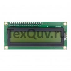 LCD1602 Символьный дисплей 16x2 Зеленый с выводами
