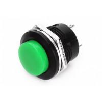 Кнопка R13-507 2PIN 3A-250V 16мм OFF-(ON) зеленая без фиксации