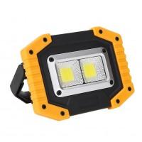30Вт 2 СОВ аккумуляторная портативная прожекторная лампа с Power Bank Кемпинг Work Light