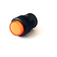 Кнопка R16-503AD-О 4PIN 3A-250V 16мм OFF-ON оранжевая с фиксацией