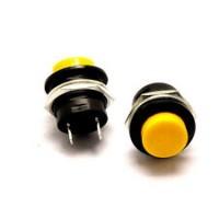Кнопка R13-507 2PIN 3A-250V 16мм OFF-(ON) желтая без фиксации