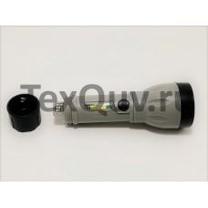 LED + COB мощный перезаряжаемый фонарик с 4 режимами работы, батарея 18650 USB (серый)