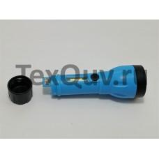 LED + COB мощный перезаряжаемый фонарик с 4 режимами работы, батарея 18650 USB (синий)