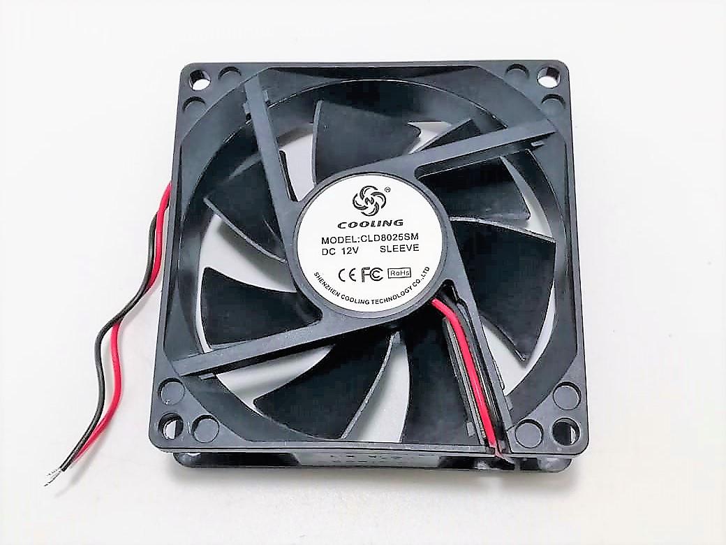 Вентилятор 80x80-25 12VDC 0, 23А втулка (CLD8025SM DC12V SLEEVE)